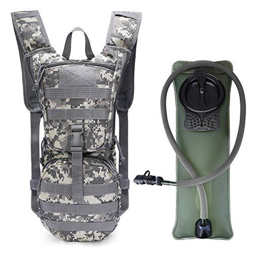 G4Free Militär Trinkrucksack Rucksäck mit 2,5 L verbesserter Blase für Wandern Radfahren Laufen Ausflug und Klettern
