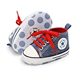 【EASY SLIP】 - First walking shoes- Lace ups prevents shoes & most importantly, stay on your child's feet! 【SOFT SOLE】-Flexible sole makes it easy to put on & take off; It is well-crafted to cushion and protect baby's feet while moving with each step;...