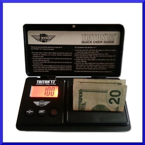 My Weigh Triton T2 200g x 0.01g Digital Pocket Scale, Formula Scale, Jewelry Scale with Hard Cover Case Model: Office Supply Store