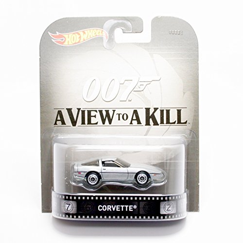 Hot Wheels Corvette James Bond 007 A View to A Kill 2015 Retro Series 1/64 Die Cast Vehicle by