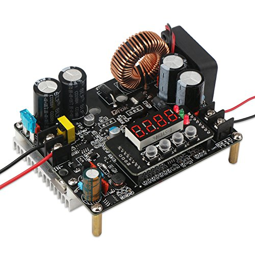 DC Voltage Regulator, DROK DC-DC Buck Converter Module 10V-75V to 0-60V 12A Adjustable Power Supply Step Down Transformer Board DKP6012 CC CV Numerical Control Volt Reducer