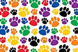 Teacher Created Resources Colorful Paw Prints Postcard (4799), Multi