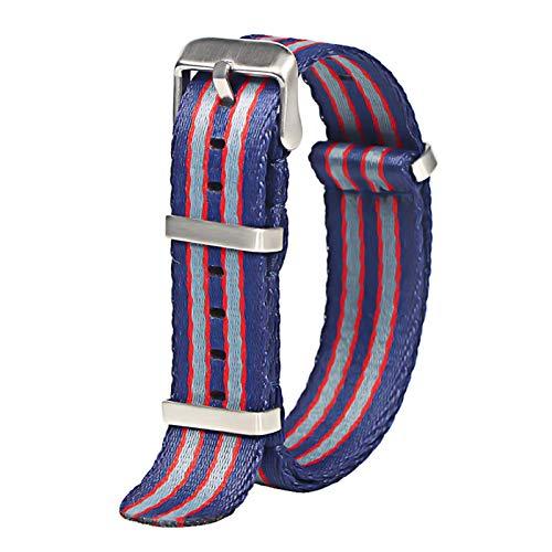 WNFYES 20mm 22mm cinturón de Seguridad Reloj con Correa de Nylon Correa de Reloj de Nailon (Band Color : H125 S, Band Width : 22mm)
