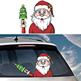 SUNACCL Car Stickers and Decals Christmas Rear Window Wiper Stickers Santa Rear Windshield Stickers Waterproof Decal for Car Decoration (Santa Stickers-2)