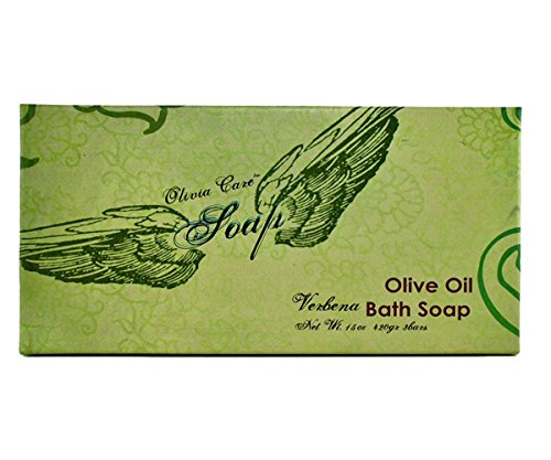 Olivia Care Natural Olive Oil Verbena Bath Soap, 15 Oz Total -3 Bars,