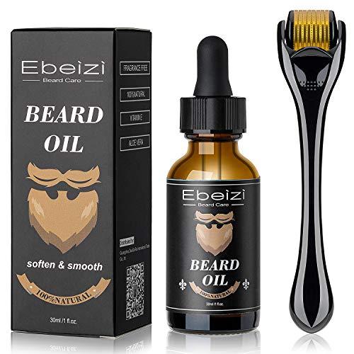 Kit de crecimiento de barba para hombre, kit de crecimiento de barba, suero activador de crecimiento de barba, rodillo de barba para hombres, rodillo de derma para hombres