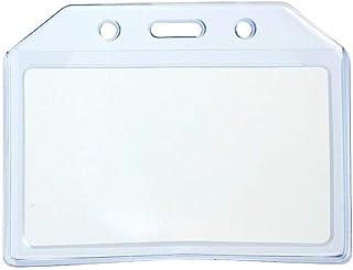 CKB Ltd 20x Durable Clair Blue Soft Plastique Horizontal Carte ID Support De Badge Card Badge Holder Pocket Pouch