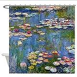 Yiciyici CafePress Duschvorhang - Seerosen Von Claude Monet Duschvorhang - Weiß-180(H) X200(W)
