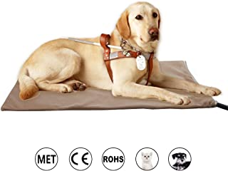 Zobire Pet Heating Pad, Large Dog Heating Pad, Indoor Waterproof Electric Heated Pet Bed, Met Safety Listed