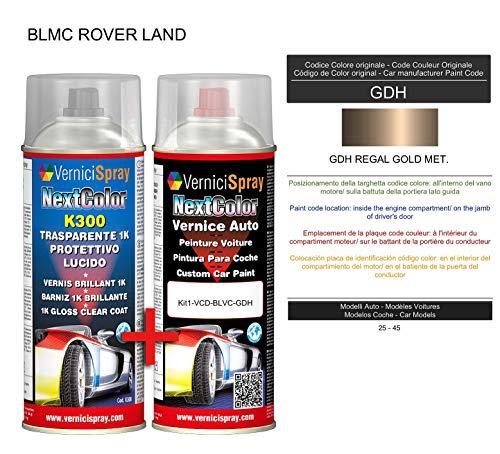 Kit Spray Pintura Coche Aerosol GDH REGAL GOLD MET. - Kit de retoque de pintura carrocería en spray 400 ml producido por VerniciSpray