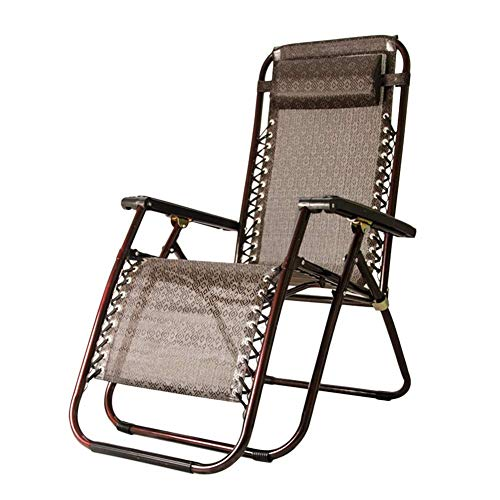 WGFGXQ Patio Lounge Chair Reclining with Adjustable Pillow, Portable and Folding Chairs for Beach, Swimming Pool, Garden, Outdoors and Indoors, Support 150kg