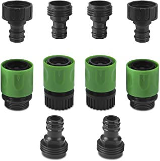 Sarissa Plastic Garden Water Hose Quick Connect, Hose Connector Quick Fitting Adaptor 10pcs 3/4 inch GHT