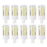 Ampoule LED G4 5W DC/AC 12V Equivalent à Lampe Halogène 50W, 51 SMD 2835LEDs,Blanc Froid 6000K LED Lampe 500LM G4 Lumière Non Dimmable, 360° Angle de Faisceau, Pack de 10