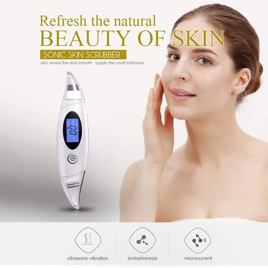 昼食ヘビ荒れ地しわ除去Rf美容デバイス、顔のクレンジング、リフティング&引き締めデバイス、ディープクレンジング振動美容ツールをきつく締めるフェイスリフティングスキン