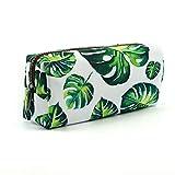 LParkin Tree Leaves Large Capacity Canvas Pencil Case Pen Bag Pouch Stationary Case Makeup Cosmetic Bag Gadget Box