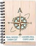 Libreta Bonitas Cuaderno Original de Madera A5 Diarios para Escribir Bloc de...