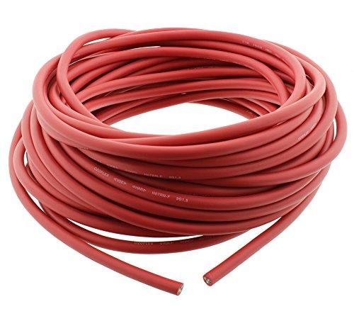 Schwere Gummischlauchleitung Gummikabel Elektrokabel H07RN-F 3G 1,5 25 Meter Ring Rot