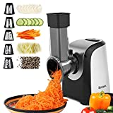 ✓Slice or shred vegetables, fruits, and cheese for delicious salads, soups, tacos, pizzas, desserts, and much more ✓Comes with 4 interchangeable stainless steel cones satisfied your different needs, coarse grating cone, fine grating cone, thick slici...