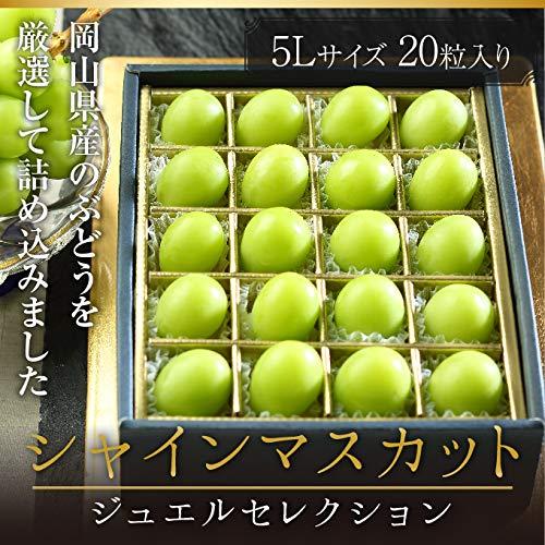 シャインマスカット ジュエルセレクション 岡山県産 特秀 5Lサイズ 20粒 お歳暮 クリスマス ギフト 葡萄 ぶどう ブドウ