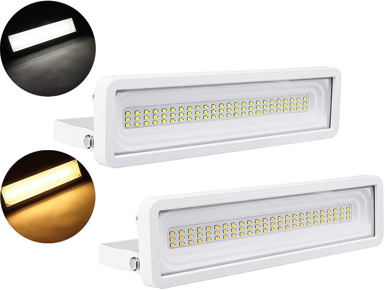 ZHENWOFC 50W 72 LED Wasserdicht IP65 Flutlicht Scheinwerfer Outdoor Garten Sicherheit Lampe AC180-245V Auenbeleuchtung (Farbe   Weiß)