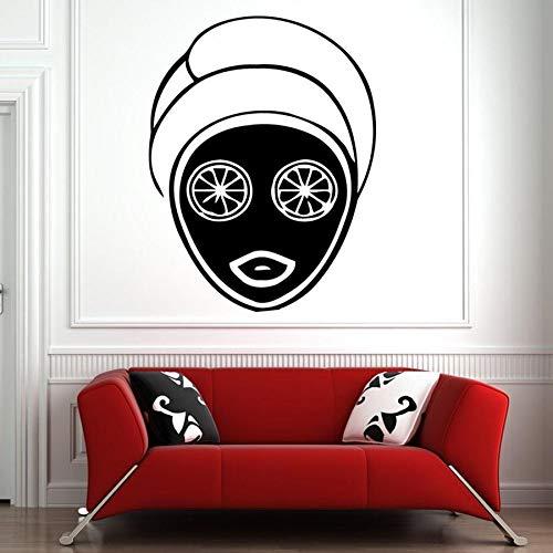 Salón de spa tatuajes de pared cuidado facial cuidado de la piel masaje pegatinas de pared de vinilo salón de belleza habitación de las niñas decoración para el hogar cara de mujer arte mural