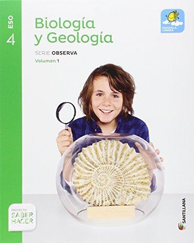 BIOLOGIA Y GEOLOGIA SERIE OBSERVA MOCHILA LIGERA 4 ESO SABER HACER - 9788414101926