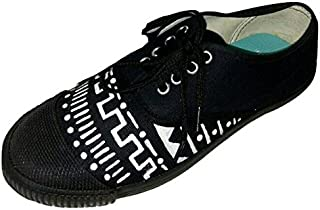 FUNKY N TRENDY Hand Painted Water Resistant Dual Color Unicorn Theme Canvas Casual Shoes