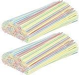 com-four® 400 Flexible Trinkhalme, Strohhalme in verschiedenen bunten Farben (400 Stück - bunt...