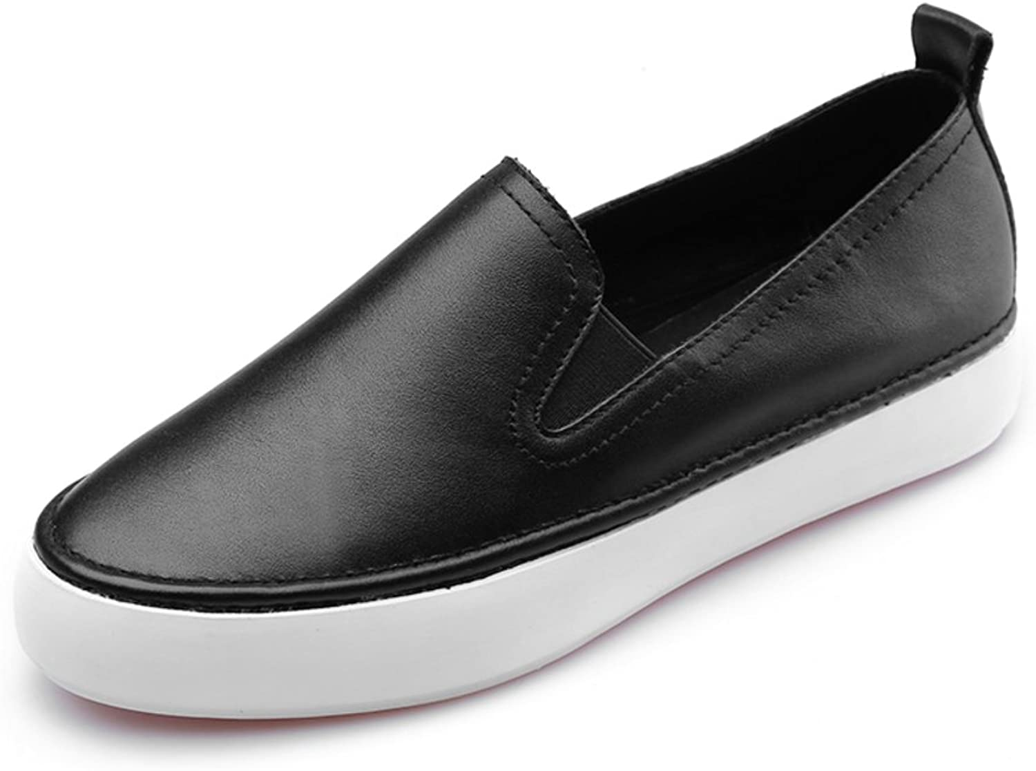Huhuj Full Leather Loafers Pig Lippi Breathable shoes Set Foot Slip-on shoes Leather Casual Flat White shoes