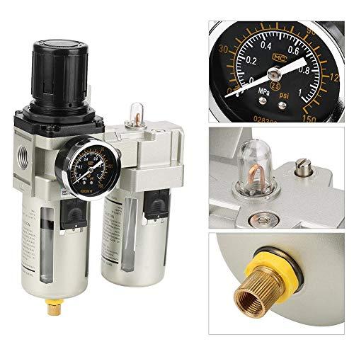 Luchtfilterregelaar, G1 / 2 luchtbron Gasverwerkingseenheid Filterdrukregelaar met manometer