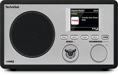 TechniSat DigitRadio 303 SWR3-Edition internetradio (directe keuzeknop SWR3, WLAN, LAN, DAB+, DAB, FM, Bluetooth, wekker, wifi-streamingfunctie, hoofdtelefoonaansluiting, 2 watt RMS) zwart