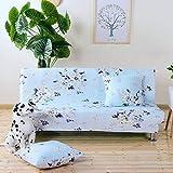 HYRGLIZI Funda elástica para sofá Cama sin Brazos Funda Antideslizante para futón Plegable Protector Suave para Muebles para Sala de Estar-LM 160-185cm (63-73in)