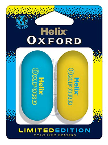 White Helix Extra Small Pack of 15 Pencil Erasers Rubbers