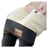 Leggings Térmicos Sólido Cálido Invierno Sólido Terciopelo Terciomo Mujer CashMere Pantalones Pantalones Pantalones Pantalones Flacos (Color : Gray-B, Size : XXL)