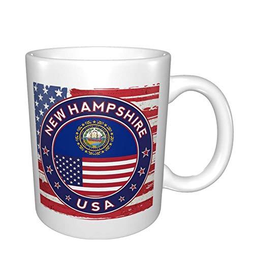 Nuevo Hampshire Bright Multi Grandes tazas de porcelana para café, té, cacao tazas de cerámica de 11 oz