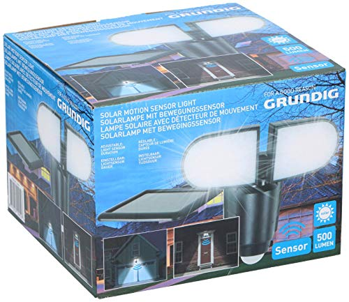 LED Solar buitenlamp wandlamp 2er schijnwerper Grundig 10952 bewegingsmelder