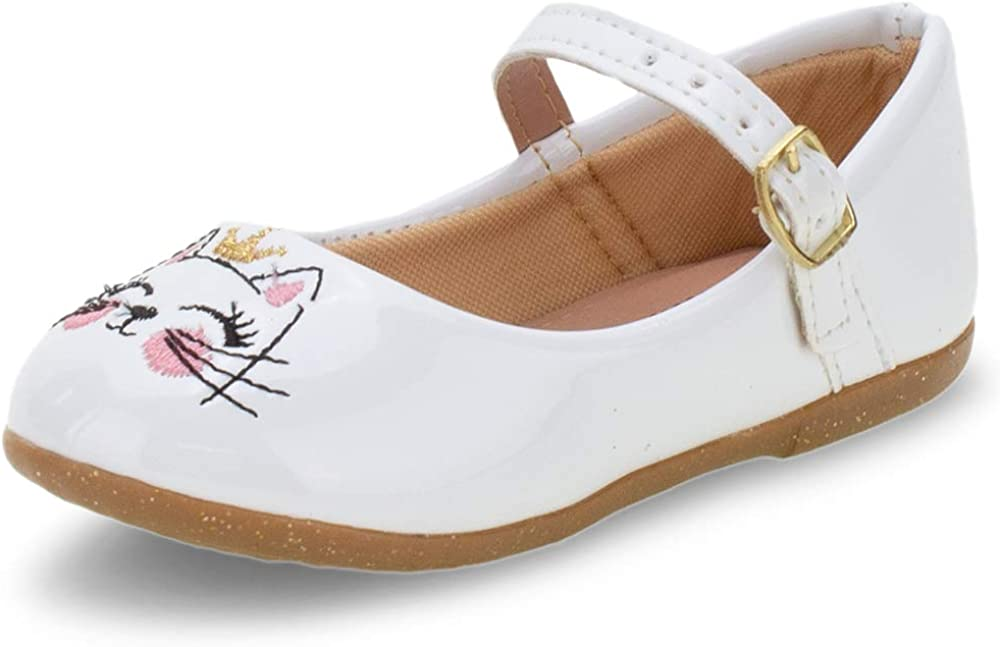 Kids' Mary Jane Flat cat Kitten Crown Cute Comfort Girl White (Numeric_8)