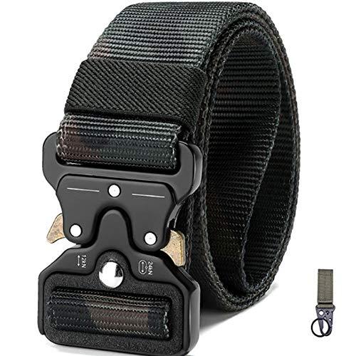 Cinturón Táctico Militar con Gancho Militar Velcro, Correa de Cintura, Cinturones de Seguridad…