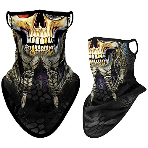 WTACTFUL Colorful Pattern Neck Gaiter Bandana Half Face Mask Scarf Ear Hanging Protection Windproof for Fishing Hunting Skiing Snowboarding Cycling Motorcycle Outdoor Sports Women Men #02
