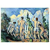 RTF Mini Rompecabezas 500 Piezas De Bricolaje Pintura Famoso Juego Set - Famosos del Impresionista Paul Cezanne Baños Pintura