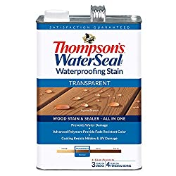 commercial THOMPSONS WATERSEAL TH.041841-16 Transparent waterproof stain, acorn brown cedar siding sealer