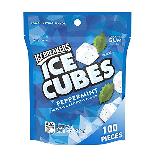 Ice Breakers Ice Cubes Gum in Peppermint Sugar Free with Xylitol 811 oz