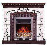 Art Flame - Chimenea eléctrica navideña y Galileo Silver 2000 W, mando a distancia, llama de colores