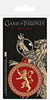 Lannisterラバーキーホルダーの玉座ハウスのゲーム  Game of Thrones House of Lannister Rubber Keychain
