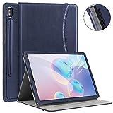 Ztotops Coque pour Samsung Galaxy Tab S6 Pouces 2019,Cuir Senior Affaires Étui,Protection avec Porte-Stylo, Angles...