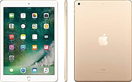 """Apple iPad 9.7"""" with WiFi, 32GB 2017 Newest Model- Gold (Gold)(Refurbished)"""