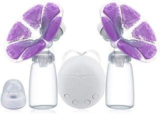 Extractor de Leche Electrico Pecho Automático Masaje USB Carga con Sacaleches doble, Extractor de Leche Materna M, suave y cómodo(WITH 2 x Cold Heat Pad)