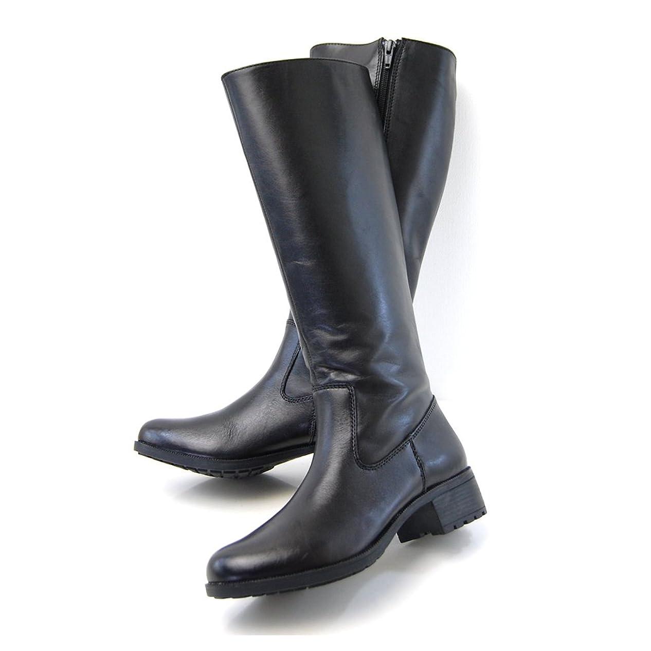 数学的な算術秘書[ノーブランド品] 本革 細身 ロング ジョッキー ブーツ L129