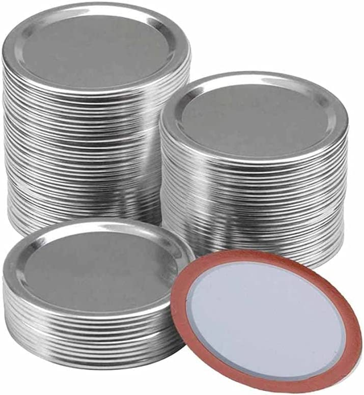 HAHFKJ 100 Pcs Regular Mouth 70MM Gorgeous Low price Lids Jar Canning Reusab Mason