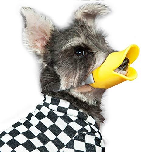 Entenschnabel-Mundschutz Hund, Mundschutz, Bissschutz/Maulkorb, Bissfest,Kleine Hunde,Justierbarer Silikon-Mundschutz Für Haustiere Duck Mouth Pet-Maulkorb,A,S